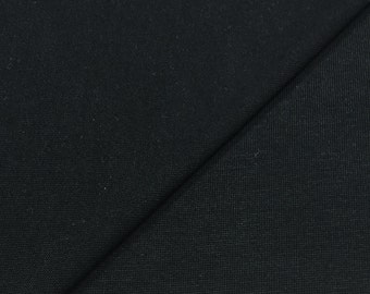 Modal/Spandex Jersey Knit Fabric- (Wholesale Price Available By the Bolt) - USA Made Premium Quality-3093L Black-1 Yard
