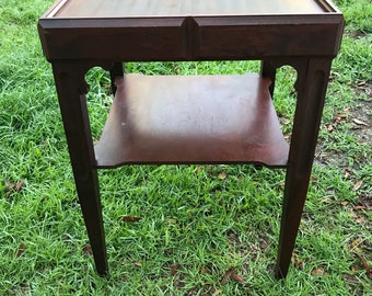 Mahogany table End Table, Mid Century Table