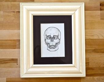 skull drawing skull art framed art science art anatomical art skull - Yoga Anatomy Coloring Book