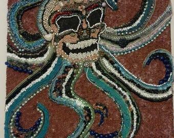 "Aztec inspired jewelry bead and stone moziac ""bone"""