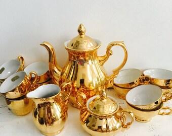 ON SALE Rembrandt St Kilda Vintage 22carat Tea set