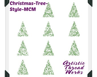 Christmas-Tree-Style ( 10 Machine Embroidery Designs from ATW )