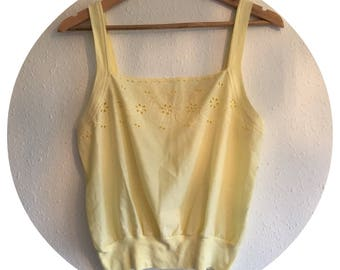Vintage 90's Yellow Summer Cami Vest Size 10/12