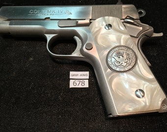 Compact size 1911 grips,Colt Officers,Defenders,Kimber CDP,Sig,Springfield,Wilson, Para,Auto Ordnance,C 7, compacts, U.S. Army,#678