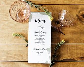 Wedding Menu: Place Cards, Wedding Decor, Wedding Table Numbers, Custom Wedding Decor