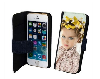 Custom Personalised Photo Printed Picture Flip Wallet Style Phone Case Cover
