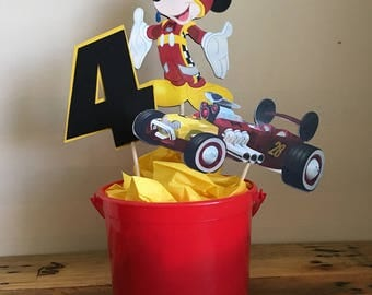 Mickey and the Roadster Racers Centerpieces