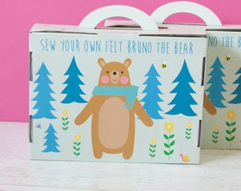 Wonderful DIY sewing kit: BRUNO the bear