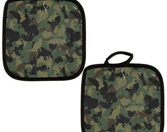 Catmoflauge Cat Camo All Over Pot Holder (Set of 2)