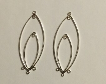 Sterling silver earring finding