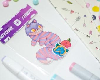 Cheshire cat sticker pack