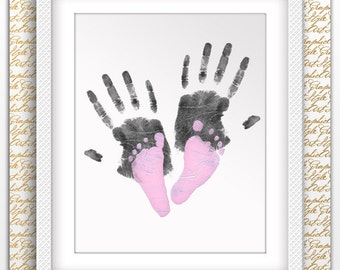 Child's Feet Footprint Art Handprint Art Handprint Poster Handprint Printable Footprint Printable Baby Footprint Gift Foot Print Art Decor
