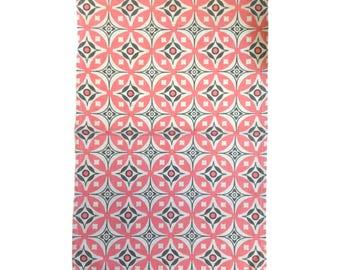 Elmas Tea Towel Fresh Pink / Charcoal Grey