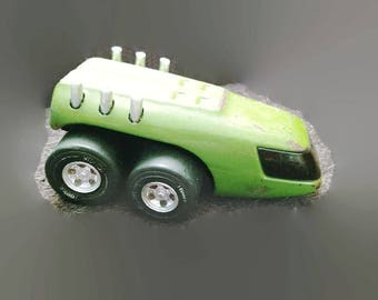 Tonka wto 760 moon rover green with label.