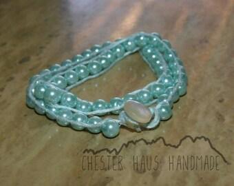 Mint Monocromatic Wrap Bracelet