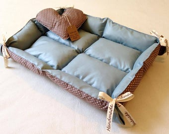 Handmade reversible pet bed/mattress,  suitable for small dogs & cats. In stock now