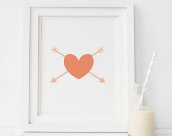 Love Wall Decor, Love Quote,coral Print, Love Print, Quote Art,