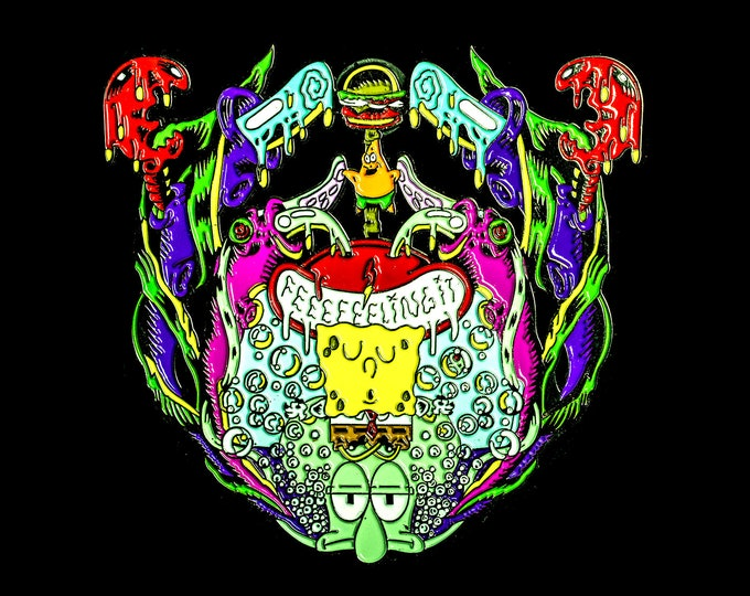 BassBob Pin - Bassnectar, Bassdrop, Spongebob Pin (original)