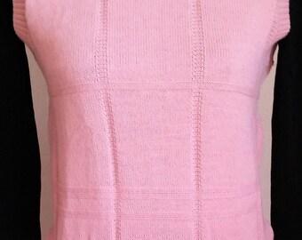 Vintage Woman's Pink Sweater Vest, Vintage Sweater, Vintage Pink Sweater, Vintage Sweater Vest, Vintage Clothing, Vintage Women's Clothing