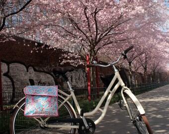 bag - pannier - doble pocket - bike panniers from oilcloth, waterproof, retro look