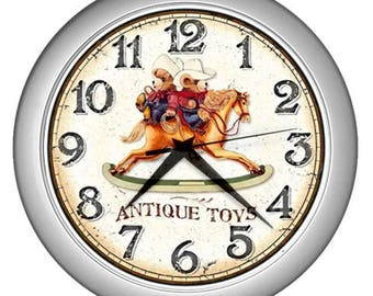 Retro Wall clock vintage image Wall  decor antique toy wall clock kids wall clock