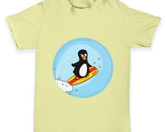 Surfer Guin The Penguin Baby Toddler T-Shirt