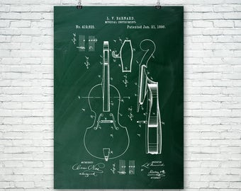 Cello Poster Patent Print FREE SHIPPING, Cello Wall Art, Cello Patent, Cellist, Cello Player, Cello Teacher, Musician