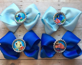 Finding Dory hair bows party favors, Finding Dory hair bows, Finding Dory birthday, Finding Dory birthday party favors