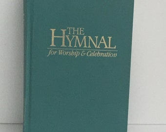 "Vintage Hymnal, ""The Hymnal"", For Worship and Celebration, Church Hymnal, Spiritual, Hymnal Book"