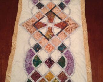 Celtic Design Stained Glass look Table Runner