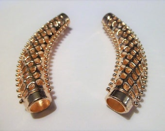 Gold plated curved tube