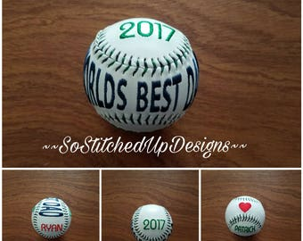 Personalized Baseball for Dad, Father's Day gifts, Birthday Gifts for Dad, Worlds Best Dad gift, 1st Father's day gifts