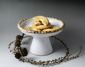 ceramic cake stand white cake stand small cake stand home decor hand