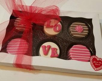 Valentine Chocolate Covered Oreos,