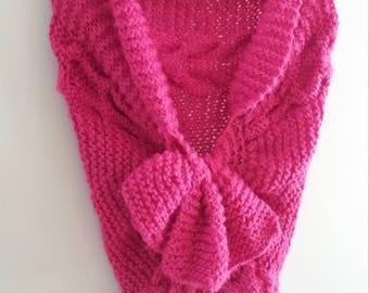 Wool shawl hand-made, 2 models