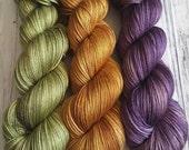 Quarterly Yarn Club - Luxe Club on Hand Dyed Merino and Silk Fingering Weight Sock Yarn