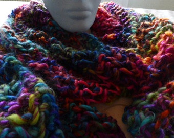 Scarf, colorful scarf, Winterschal, knitted Kuschelschal, warm scarf, shawl, scarf, shawl, winter warmer gift girlfriend daughter.