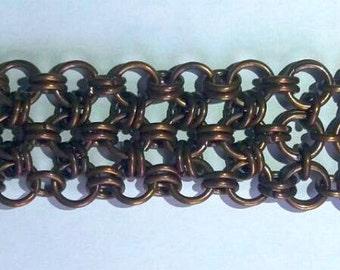 Japanese chainmaille bracelet - 100% Handmade - Copper bracelet