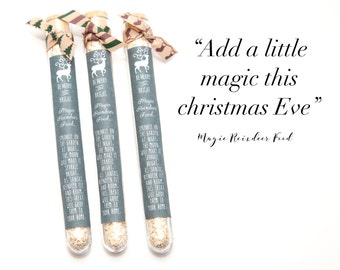Magic Reindeer food tubes for Christmas Eve boxes