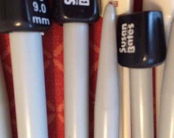 """New 10"""" Plastic Knitting Needles Single Point SP Susan Bates and Others. Variety of Sizes Available"""