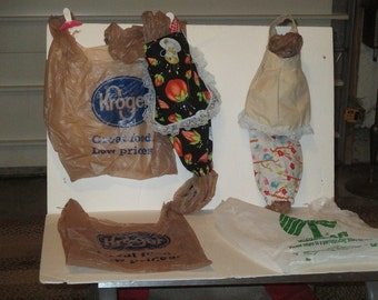 plastic grocery bag holders