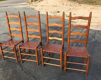 Set of 4 Shaker-style kitchen dining chairs