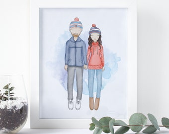 Custom Couple Portrait