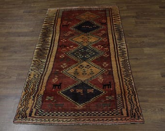 Unique Animal Design Tribal Wool Shiraz Persian Rug Oriental Area Carpet 5X9