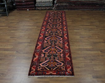 One of a kind Palace Size Huge Oversized Hand Knotted Runner Nahavand Persian Rug Oriental Area Carpet 4'X16' Sale