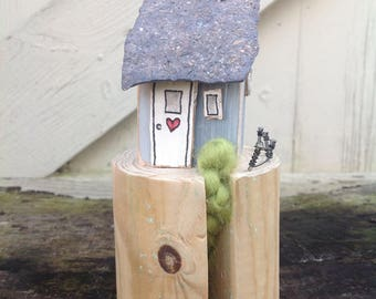 Perched...driftwood cottage