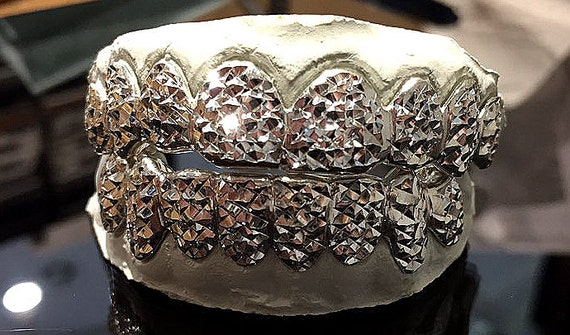 925 Sterling Silver Princess Diamond Cut Custom Fit Handmade