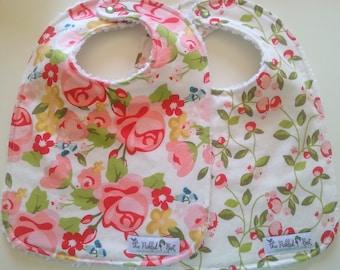 Baby Bibs - Baby Bibs Handmade - Baby Girl Bibs - Bibs - Floral Bibs - Handmade Bibs - Chenille Bibs - Riley Blake - Hello Gorgeous - Gift