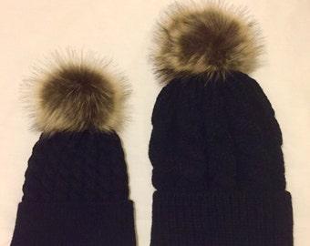 Woolly Winter Furry Pom Pom Hat
