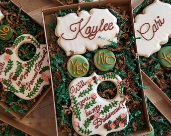 Will you be my Bridesmaid? Sugar cookie Gift Set